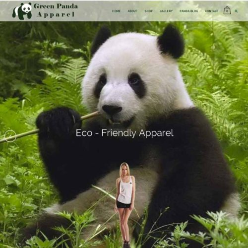 Green Panda Apparel Website Design Home Page | GET FOUND ONLINE