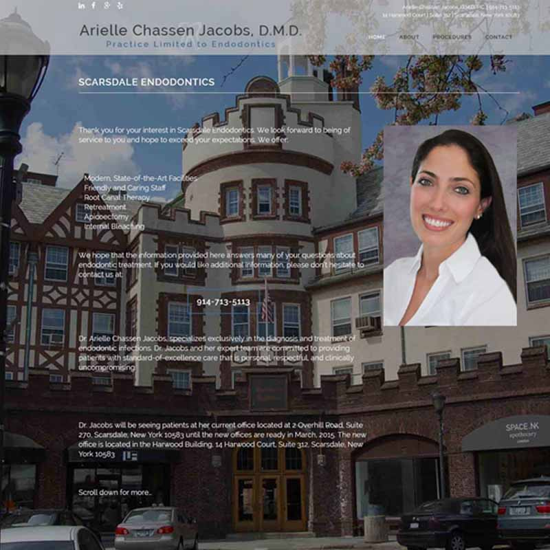 Scarsdale Endo | Arielle Jacobs, D.M.D. Website Design Home Page | GET FOUND ONLINE