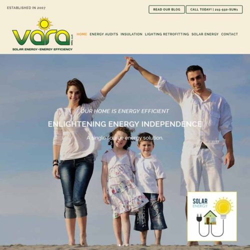Vara NRG Website Design Home Page | GET FOUND ONLINE
